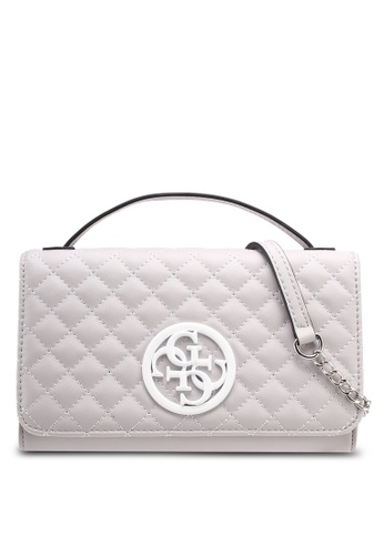Guess grey G Lux Mini Sling Wallet C537CAC78A98FFGS_1