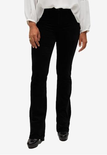 Violeta by MANGO black Plus Size Flared Cotton Jeans 272B5AA0B1BD4DGS_1