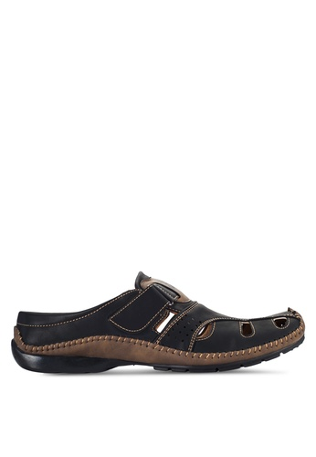 Louis Cuppers black Casual Mules LO977SH95VOYMY_1