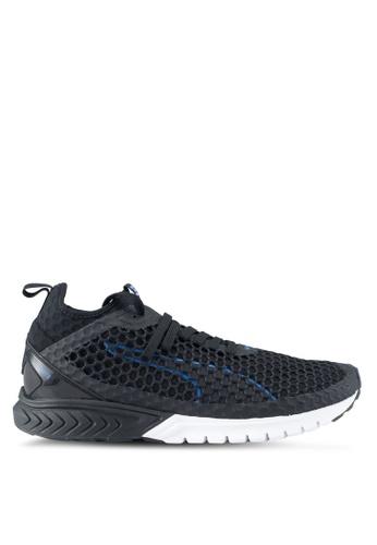 Puma black and blue Ignite Dual Netfit Shoes PU549SH0SWCYMY_1