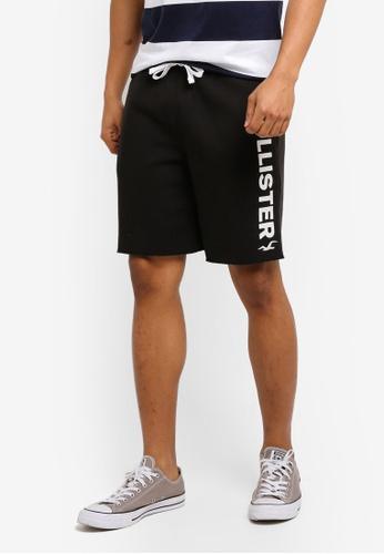 Hollister black Tech Logo Classic Shorts 87FB3AA56C1F50GS_1