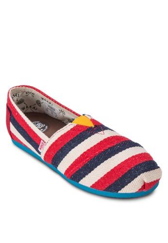 Ruiz 撞色條紋懶人鞋, 女鞋, 休閒esprit官網鞋