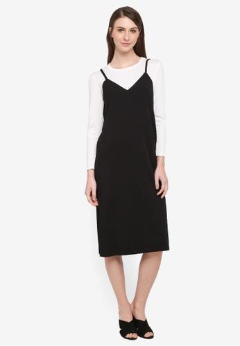 BYN black Korean Style 2-in-1 Dress Set A1711AA8F0EE4EGS_1