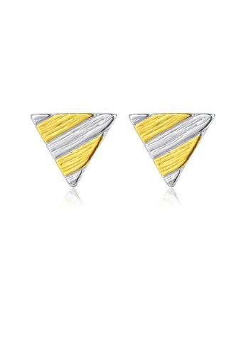 SUNRAIS gold High quality Silver S925 gold fashion earrings 28803ACD18D249GS_1
