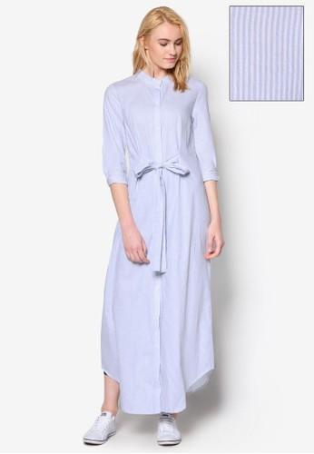 立領條紋連esprit台北門市身長裙, 服飾, 洋裝