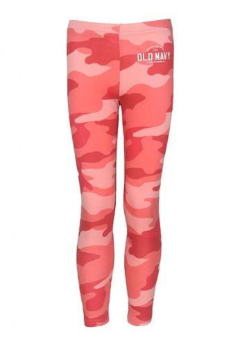 Old Navy pink Girls Logo-Graphic Leggings FD479KA9434FACGS_1