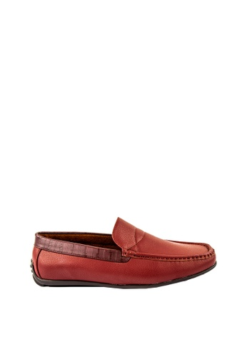 Otto red Basic Slip-On Loafers D9F2ASH427D7FEGS_1
