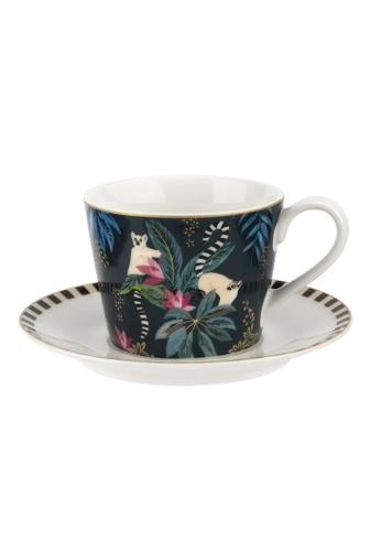 Sara Miller multi Sara Miller London - Lemur Teacup & Saucer (SMTL78924-XG) 8F1CBHLD3029B5GS_1