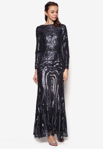 亮片魚尾長洋裝, 服飾, zalora 衣服評價長洋裝
