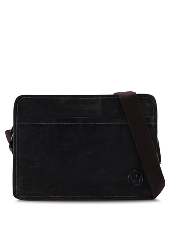 Volkswagen brown Leather Structured Crossbody bag DD96DAC755C70BGS_1