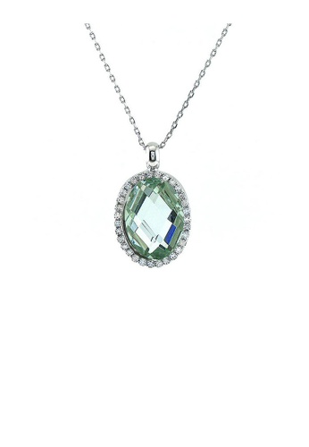 Glamorousky silver Glimmering Pendant with Silver Austrian Element Crystal Silver CZ and Necklace BE2EFACBD0ABA2GS_1