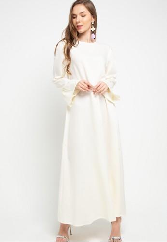 Jual Zumara Puffy Shoulder Gamis Dress Original Zalora Indonesia