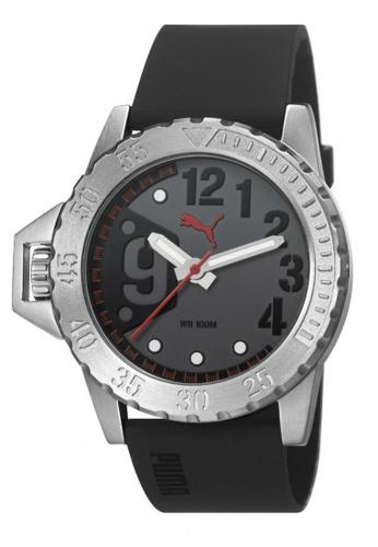 Puma black PU103761002 NO 9 Silver Black Red Men Watch PU549AC0RKL5MY_1