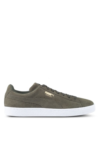 Puma black and white Suede Classic Shoes PU549SH0SWDKMY_1