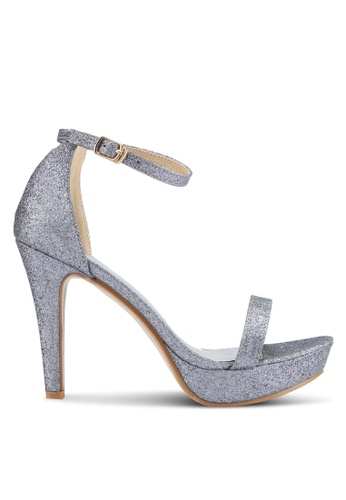 Mimosa grey Glitter Platform Heels FA0B3SHF8E19ACGS_1
