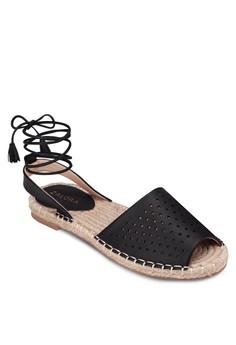 Perforated Espdarille Flat Sandals