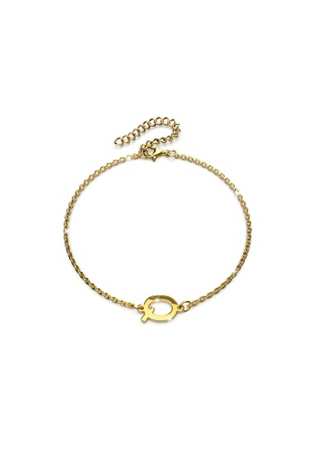 Bullion Gold gold BULLION GOLD Bold Alphabet Letter Initial Charm Bracelet in Gold Tone - Q 1502CAC5A145D2GS_1