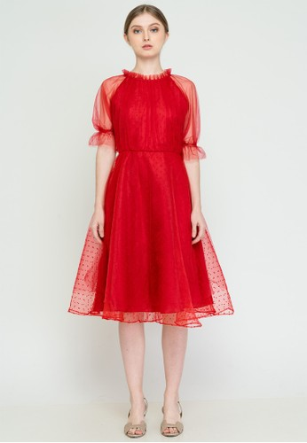 MILLE red Larissa Dress Red 62E99AA76A8A7BGS_1