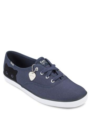 Taylor Swift Cesprit 品牌hampion 貓咪繫帶布鞋, 女鞋, 鞋