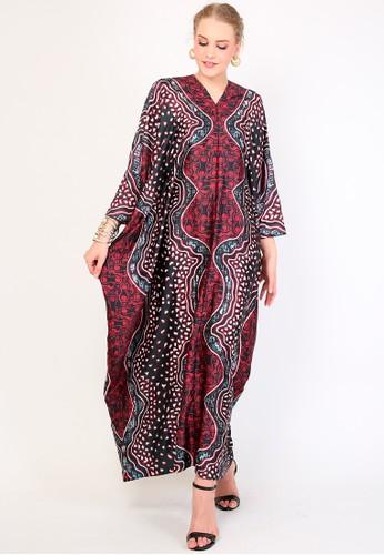 Kanzi by liza yahya red Kanzi Exclusive Long Sleeve Batik  Dark Red 1EDA0AA923E6F9GS_1