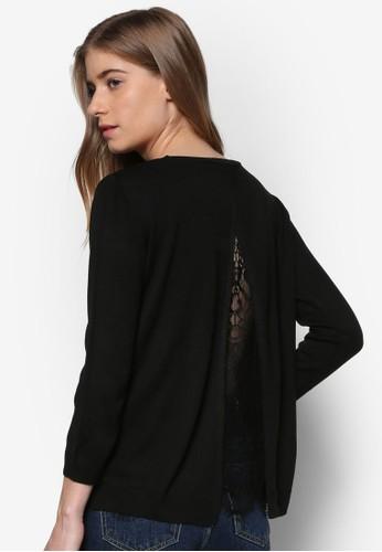 Lisbon 背面開衩蕾絲長袖衫, 服esprit outlet尖沙咀飾, 上衣