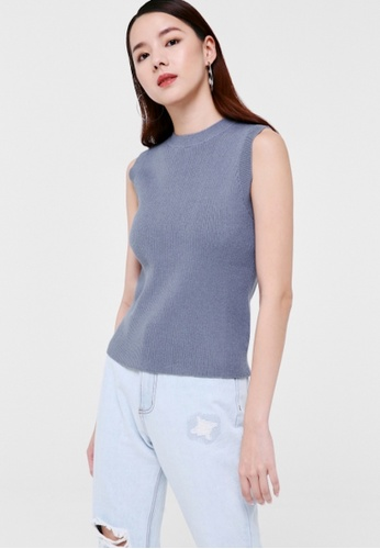 Love, Bonito blue Andie Mock Neck Knit Top BCC4CAAAA84AD8GS_1