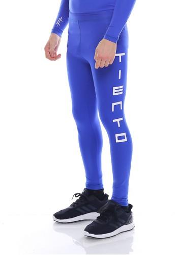 Jual Tiento Tiento Man Long Pants Typotype Blue Celana Legging Pria Olahraga Renang Sepakbola Lari Original Original Zalora Indonesia