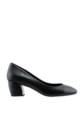 eq:iq black eqARIEL Round Toe Block Heel Pumps EQ351SH0F6LRSG_1