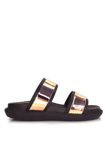 Twenty Eight Shoes gold Comfort Metallic Double Strap Sliders VM-163 TW446SH2UOF8HK_1