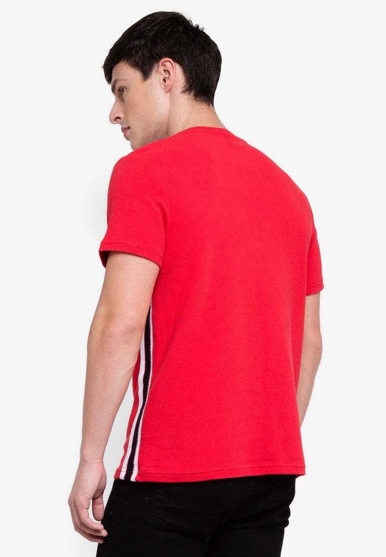 T Red Shirt Taping Red Topman 0qwOOF