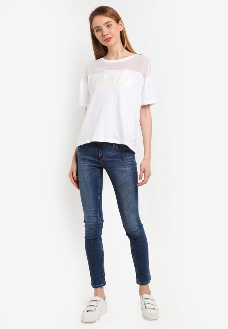 Tee Klein Jeans Bright Tecara White Calvin Calvin 3 Klein 6wvZpqF