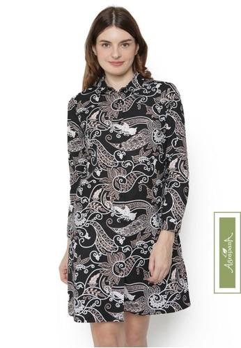 Agrapana black Rajata Batik Couple Baju Batik Wanita Dress Batik Couple Atasan Batik Wanita Batik Tunik Batik Sarimbit Dress Batik Modern Batik Cewek 39B49AA2B2824CGS_1