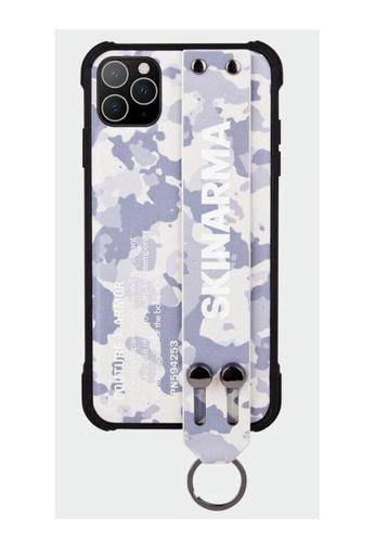 Skinarma grey and navy SKINARMA Iphone 11 Pro (5.8) - Camo Ice Grey 83395ESDD0557CGS_1