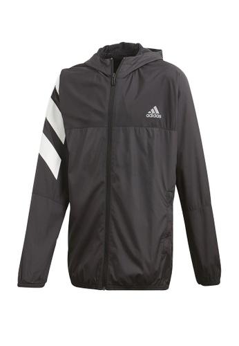 ADIDAS black xfgm must haves windbreaker jacket E3A82KA877C4F0GS_1