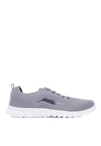 Life8 grey Lightweight Knit Fabric Sport Shoes-09619-Grey LI283SH0FBE6SG_1