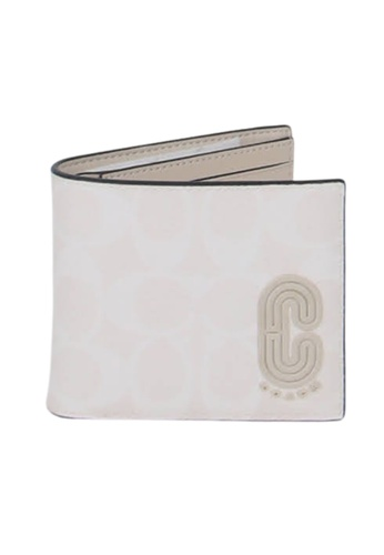 Coach white Coach Signature Compact 2838 3 In 1 Wallet In Glacier White EC6F8AC44F325EGS_1