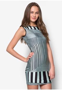 Mint Stripes Bodycon Dress