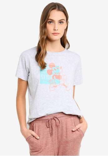 Cotton On Body grey Jersey Scoop T-Shirt C547AAADE217BBGS_1