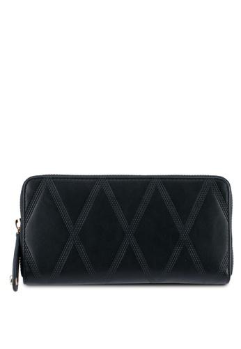 ZALORA black Long Wallet With Stitch Detail 1AF09ZZF760DD5GS_1