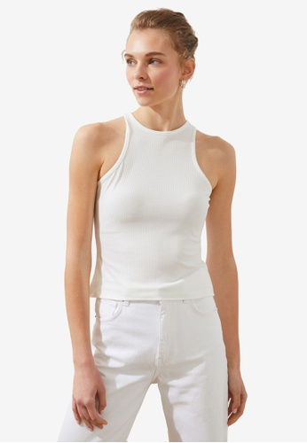 Trendyol white Basic Knitted Cami Top 99E1CAA330E53CGS_1