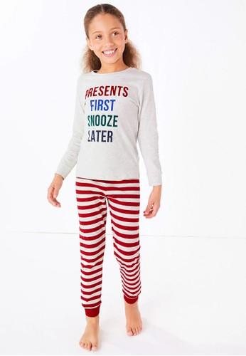 MARKS & SPENCER multi Presents First Slogan Pyjama Set 3AA83KA9F68624GS_1