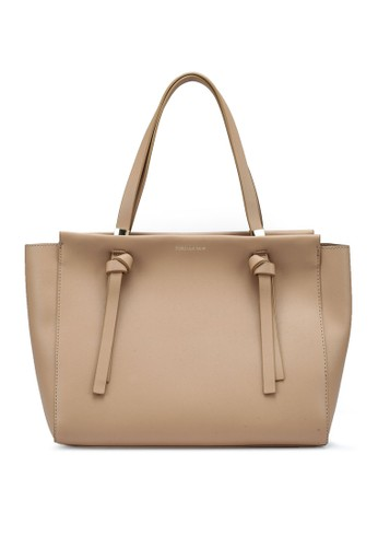 Forever New brown Kacie Knotted Tote Bag 69191ACB0EA73FGS_1