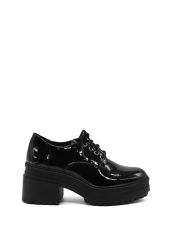 London Rag black Bobbie Lace up Platform Boots 3D86BSH4B65AB4GS_1
