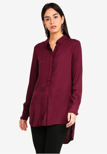Vero Moda red Astrid Long Shirt E47EFAAAC97AE5GS_1
