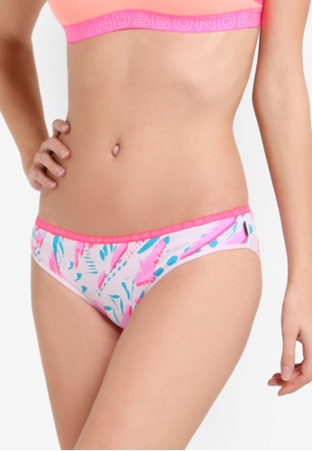 Bonds white and pink and blue Hipster Bikini Panties BO376US02ZEZMY_1