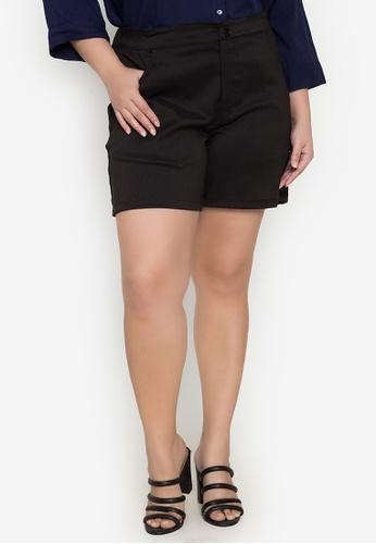 Maxine black Plus Size Shorts A4850AA03F3099GS_1