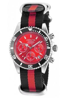 Pro Diver Men 40mm Stainless Steel Stainless Steel Red dial VD53 Quartz