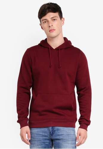 Brave Soul red Basic Hooded Hoodie C825CAA525EEC5GS_1