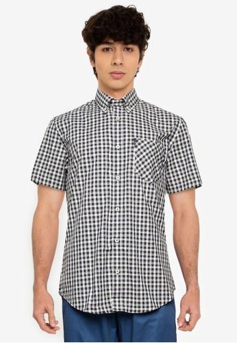 Ben Sherman blue Mini Gradient Check Shirt 887B1AAA925558GS_1