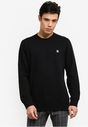 OBEY black Eighty Nine Icon Crew Sweatshirt OB162AA46CQNMY_1